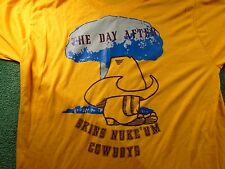 True Vintage 80s WASHINGTON REDSKINS NUKE UM Cowboys Rivalry T-Shirt Sz L Hater