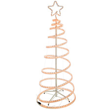 WeRChristmas 5ft 150 cm Flashing 3D Spiral Christmas Tree Rope Light Silhouette,