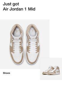 Nike Air Jordan 1 Mid Hemp Tan Gum 554724-271 SIZE 11 Sneakers - CONFIRMED ORDER