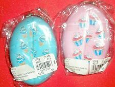 Rubber Squeeze Keychain Coin Holder - blue, pink