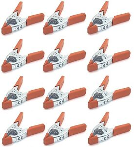 "12 Pack 6"" inch Clamp Heavy Duty Spring Metal - 3 inch Jaw opening maximum"