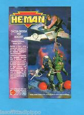 TOP989-PUBBLICITA'/ADVERTISING-1989- MATTEL HE-MAN - BOLOJET/OPTIKK/LIZORR