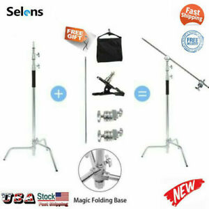 11ft Heavy Duty Turtle Base C-Stand Century Stand Gobo Arm Grip Heads & Sandbag