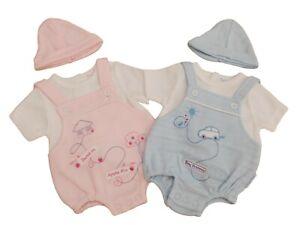 BNWT Tiny Premature Preemie Baby girls or boys romper & hat clothes 3-5 lb 5-8lb