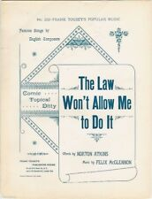 The Law Won't Allow Me To Do It, antique sheet music, 18892