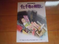 SPIRITED AWAY Ghibli japanese original mini poster Flyer 2001