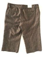 Banana Republic Womens Size 10 Brown Martin Fit Wool Pants Herringbone Low Rise