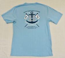 SOUTHERN TIDE Mens Sz Medium Blue Short Sleeve Channel Marker Pocket T-Shirt EXC