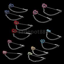 12x Crystal Heart Scarf Pins Hijab Hat Safety Pins for Sewing Dressmaking