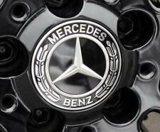 For Mercedes Benz W230 C180 C200 Wheel Center Caps Emblem Black 75MM B66470200