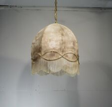 Chic Victorian Lamp Shade Chandelier w/Fringe Burnout Look Shantung