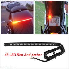 Motorcycle LED Smoke License Plate Brake Turn Signal Tail Light Universal