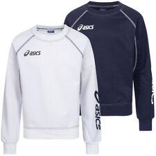 ASICS Sweat Alpha Kinder Sweatshirt Sport Pullover weiß schwarz 2024XZ neu