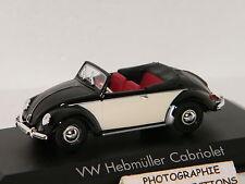 VW HEBMÜLLER CABRIOLET 1949 BLACK/BEIGE NOREV 1/43 Ref 840014