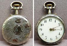 Petite montre à gousset en argent et or silver pocket watch