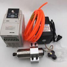 300w MOTORE MANDRINO er8 raffreddato ad acqua 60000rpm & 1.5kw VFD INVERTER CNC Kit