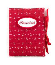 Stammbuch DIN A5 Anker rot-weiß Sammelmappe - bettina bruder®