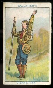 Tobacco Card, Gallaher, BOY SCOUT SERIES, Brown Back, 1911, Hand Signals, #99