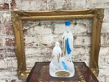 Vintage French Holy Water Mary Lady Of Lourdes Bottle The immaculate conception