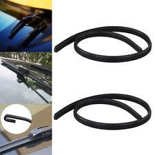 1X Universal Black 600mm/24inch Rubber Windscreen Wiper Blades Car's Front Rear