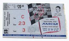 1964 Daytona 500 Ticket Stub nascar race