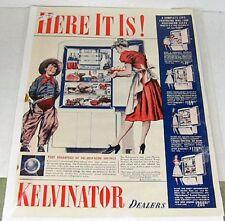 1940 Life Magazine Kelvinator Refrigerator Ad and PM Whiskey Ad Ephemera