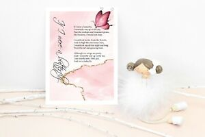 Personalised Butterfly poem Gift Present Girls Sister Auntie Mum A4 A5 Printed