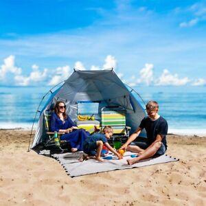 Roomy Family Easy Setup Beach Cabana Sun Shelter Tent UPF+50 with Carrying Bag