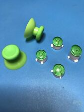 XBOX ONE 1 CUST MOD ABXY W/LETTERS REPLACEMENT BUTTON/JOYSTICK SET KIT (GREEN)
