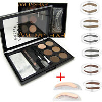 Palette Poudre Fard Ombre à Sourcils Stamping Eyeliner Pochoir Tampon Maquillage