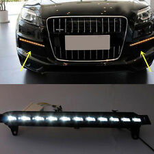 2PCS WHITE/YELLOW LED DAYTIME RUNNING DRL TURN SIGNALS LIGHTS FOR AUDI Q7 06-09