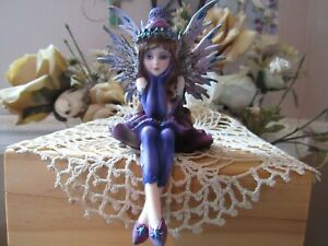 """4"""" Shelf Sitter Fairy Figurine dressed in Purple by Pacific Giftware New in Box!"""