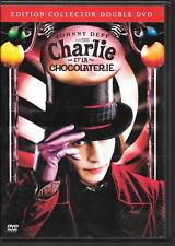 2 DVD ZONE 2 COLLECTOR--CHARLIE ET LA CHOCOLATERIE--DEPP/HIGHMORE/BURTON