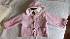 baby Zip Zap fleece pink coat. Detachable hood 9-12 months