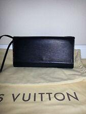 AUTHENTIC LOUIS VUITTON BLACK EPI HONFLEUR CLUTCH OR SHOULDER BAG MINT CONDITION