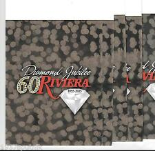 20 folding Riviera Las Vegas Hotel Casino card presentation folio Diamond J 60th