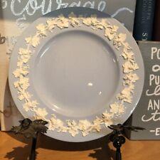 6 Wedgwood Embossed Queensware #2768 Cream on Lavender Salad Plates Plain Edge