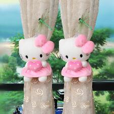 2PC Cute Hello Kitty Plush Doll Curtain Bandage Buckle Super Soft Girl's Gift