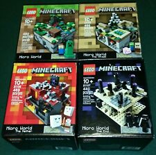 Lego Minecraft Micro World Collection 21102, 21105, 21106, 21107 Lot of 4 NEW!!!