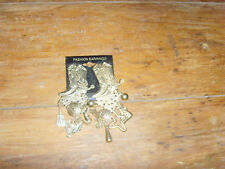 Western Boots pierced charm earrings Fun Gaudy Glamour Rodeo Queen Cowgirl Huge