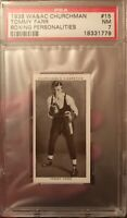 1938 WA & AC Churchman Tommy Farr Boxing Personalities #15 PSA 7 NM Card