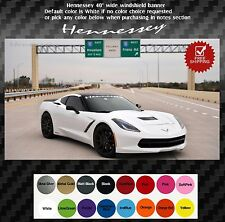 """Front windshield banner hennessey text 40"""" corvette cts-v ats-v c5 c7 Mustang"""