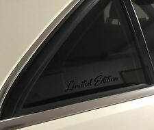 (2) Limited Edition Vinyl Decal Stickers Window Mercedes Audi Toyota Black