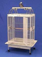 X-Large Lani Kai Lodge Open Play-Top Large Parrot Bird Cage Rolling Stand Wte