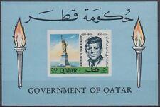 Qatar 1966 ** bl.6 John F. Kennedy JFK Statua Libertà Statue of Liberty