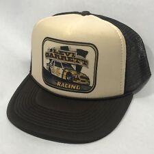 Levi Garrett Racing 5 Star Chew Hat Vintage 80's NASCAR Snapback Cap Brown & Tan