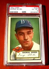 1952 Topps #326 George Shuba BROOKLYN DODGERS ~ PSA 6