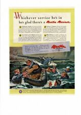 VINTAGE 1945 MARTIN AIRCRAFT MARINER WATER RESCUE TRANSPORTS SOLDIERS AD PRINT
