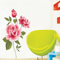 Self-adhesive Creative Rose Wall Sticker Removable Home Art Room Decor Decal