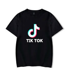 T-shirt TIK TOK Maglia video musica app Logo Maglietta bambino/adulto unisex